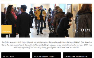 Orillia Museum of Arts and History (OMAH) Gets a New Website