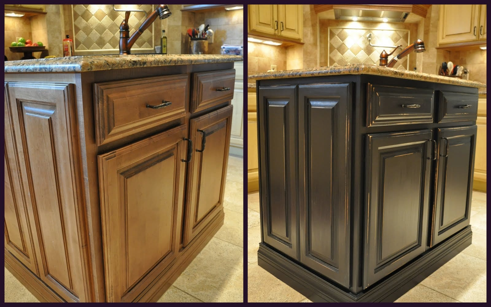 Chalk Painting Kitchen Cabinets Brown