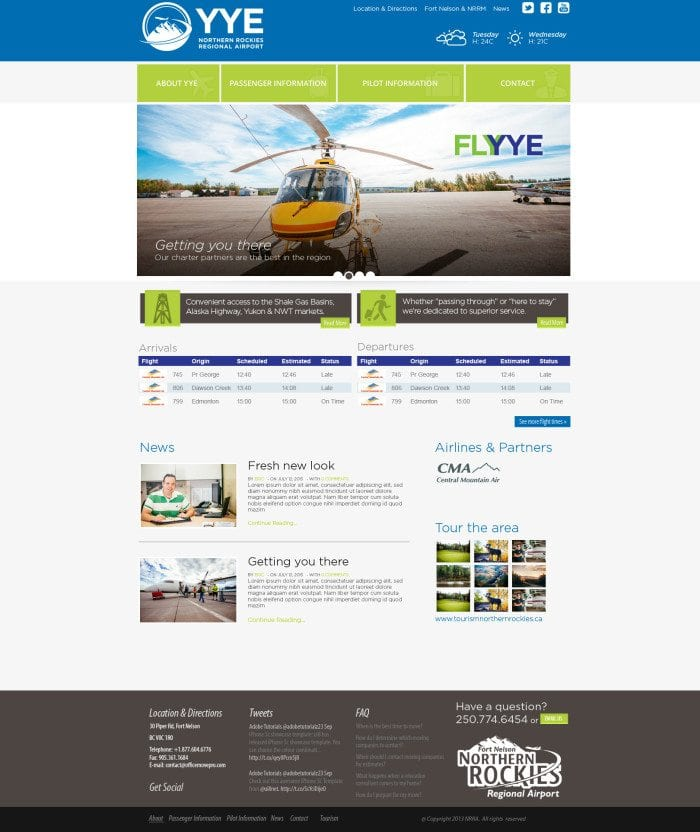 northern-rockies-regional-airport-website-concept